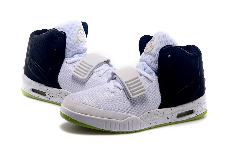 New Nike Air Yeezy White Black Shoes