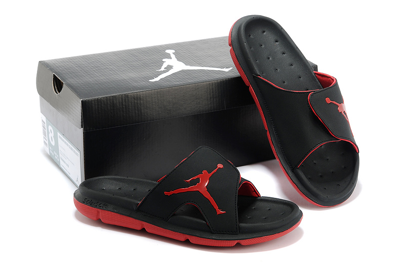 New Nike Jordan Massage Hydro Original Black Red Sandal