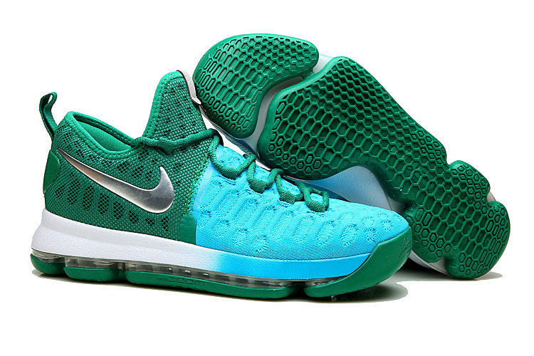 New Nike KD 9 Blue Green Peacock Shoes