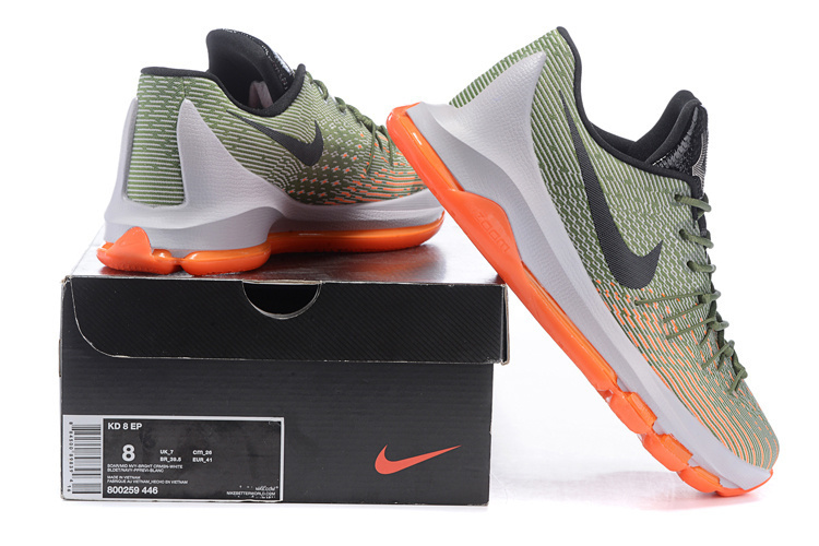 2016 Nike KD 8 Green Black Orange Sneaker