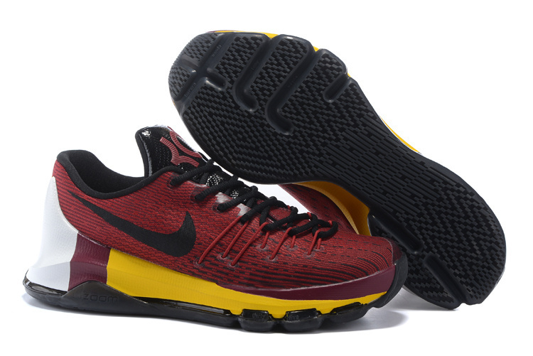 2016 Nike KD 8 Red Black Yellow Sneaker For Sale