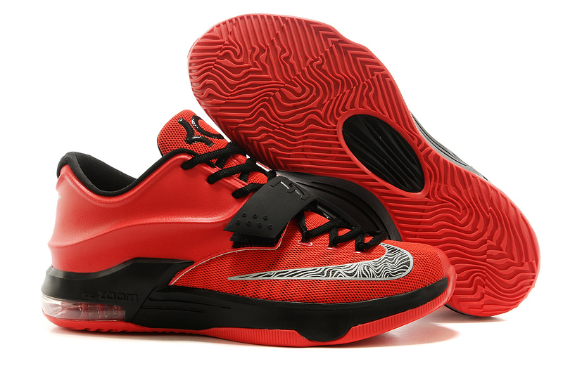 New Nike Kevin Durant 7 Original Red Black Basketball Shoes
