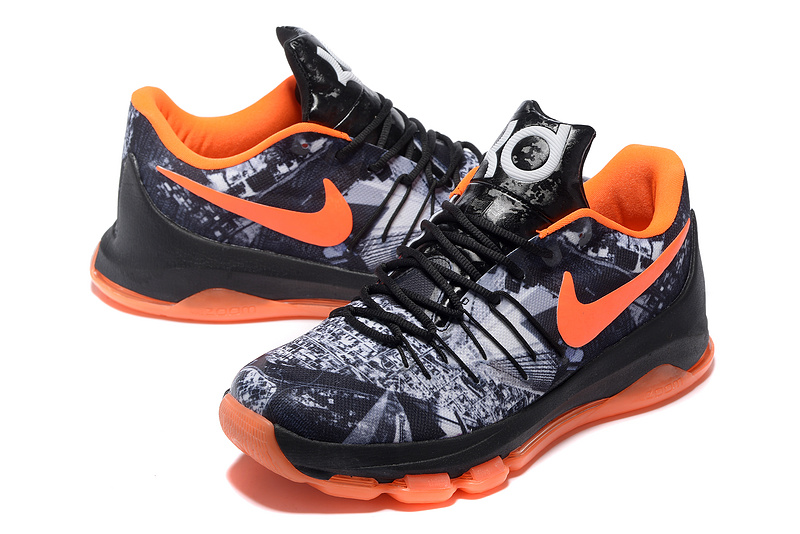 Nike KD 8 BHM Black Orange Sneaker For Sale