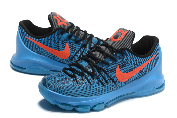 Nike KD 8 Blue Black Orange Sneaker For Sale