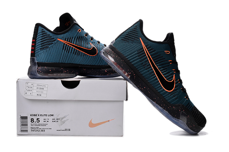 New Nike Kobe 10 Knit Assassin Blue Black Orange Sneaker For Sale
