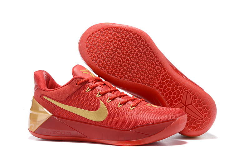 New Nike Kobe 12 AD Red Gloden Shoes