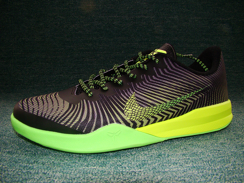 New Nike Kobe Bryant Mentality 2 Black Green Volt Sneaker For Sale