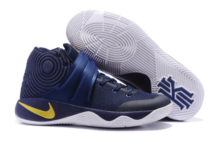 New Nike Kyrie 2 Dark Blue Gloden Shoes