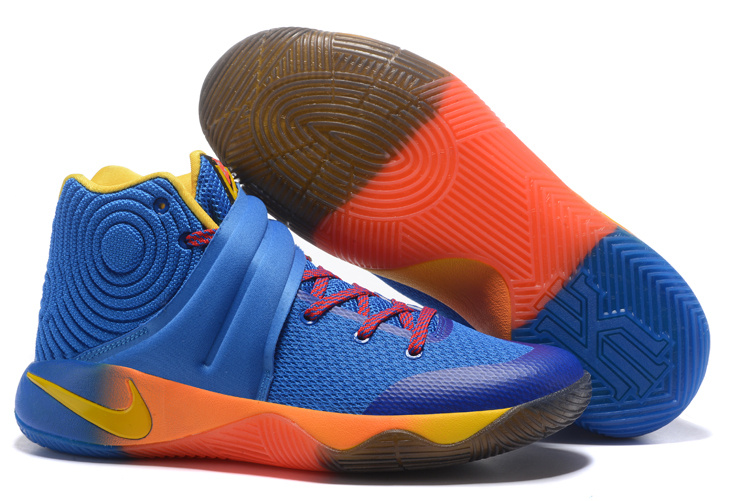 New Nike Kyrie 2 Jade Blue Yellow SHoes