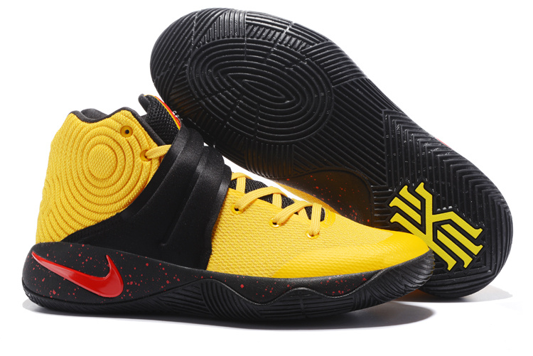 New Nike Kyrie 2 Yellow Red Black Shoes