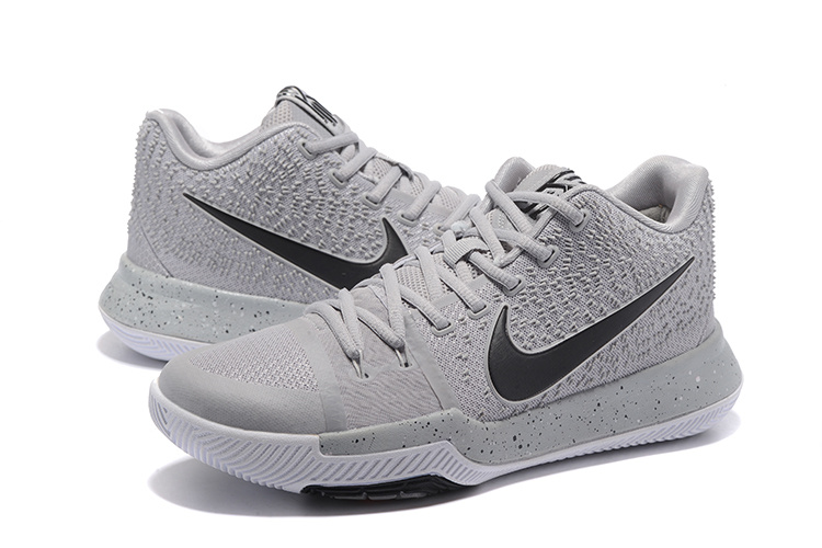 New Nike Kyrie 3 Grey Black Shoes