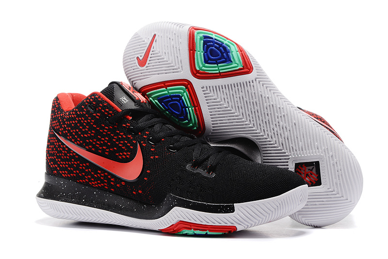 New Nike Kyrie 3 Shoes Black Red On Sale