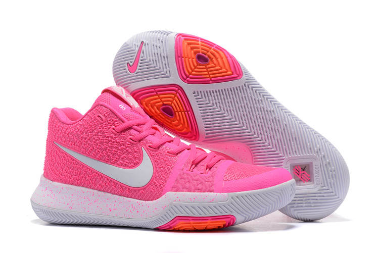 New Nike Kyrie 3 Shoes Pink White Shoes