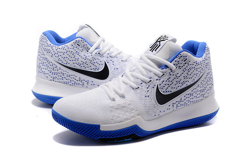 New Nike Kyrie 3 White Blue Shoes