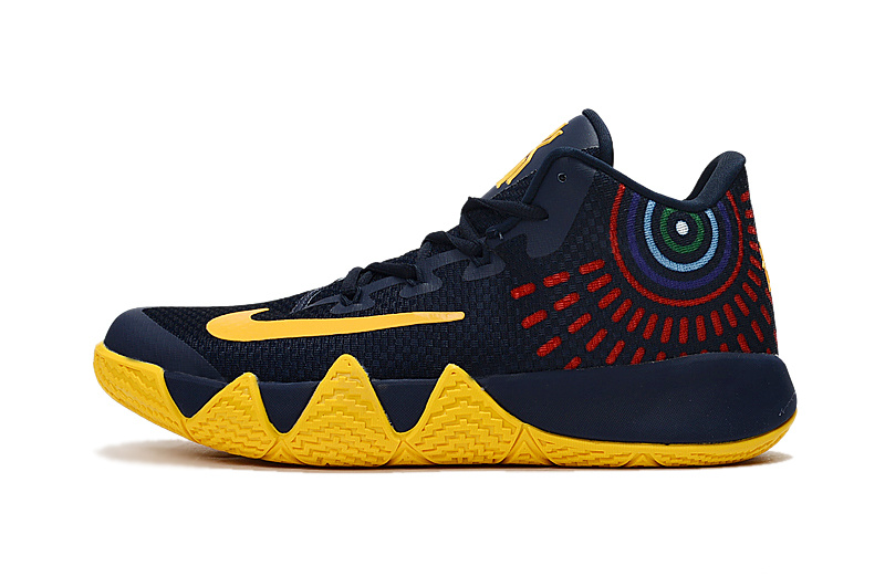 New Nike Kyrie 4 2017 Dark Blue Yellow Shoes