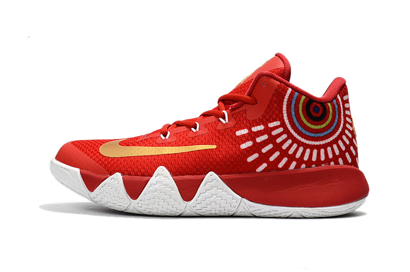 New Nike Kyrie 4 2017 Red White Shoes