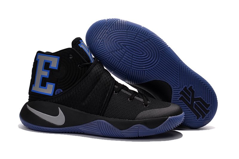 New Nike Kyrie 2 Duke Black Blue Shoes