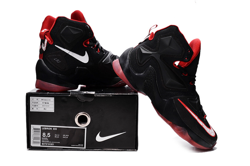 2016 Nike Lebron 13 Black Red Sneaker For Sale