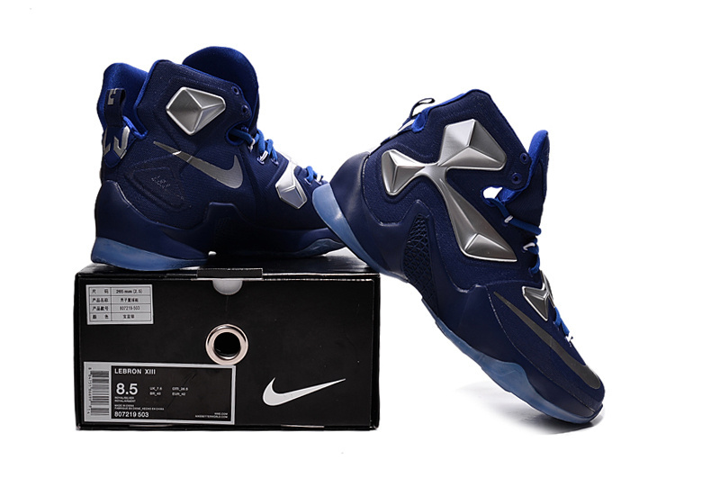 2016 Nike Lebron 13 Blue Silver Sneaker For Sale