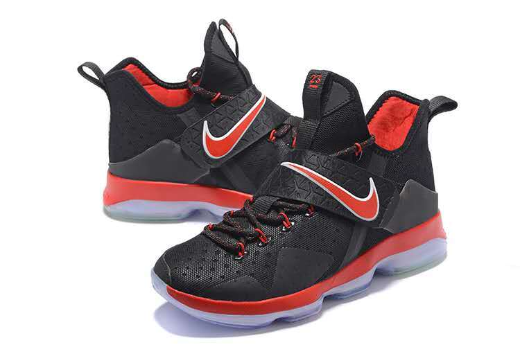 New Nike Lebron 14 Black Red Basketball Shoes