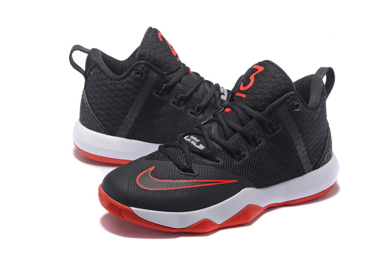 New Nike Lebron Ambassador 9 Black White Red Shoes