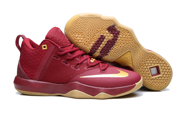 New Nike Lebron Ambassador 9 Wine Red Shoes