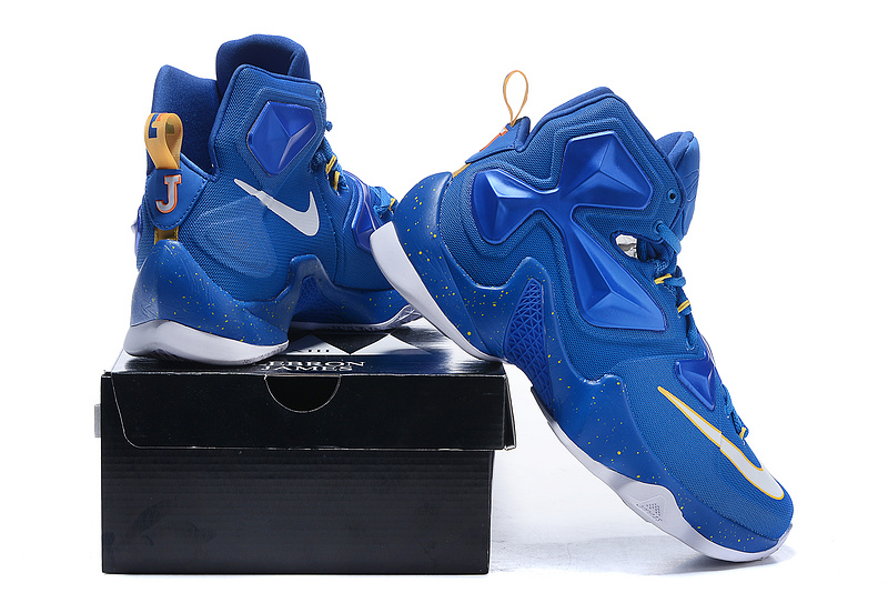 New Nike Lebron James 13 Blue White Shoes