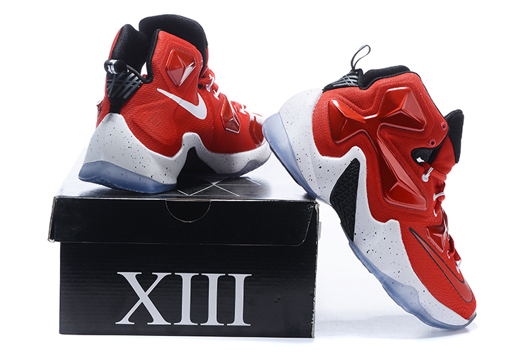 New Nike Lebron James 13 Red White Shoes