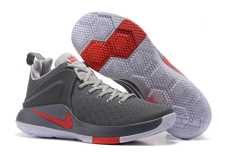 New Nike Lebron Witness Grey Black Red SHoes