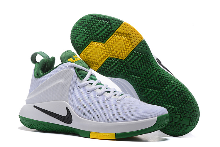 New Nike Lebron Witness White Green Black Shoes