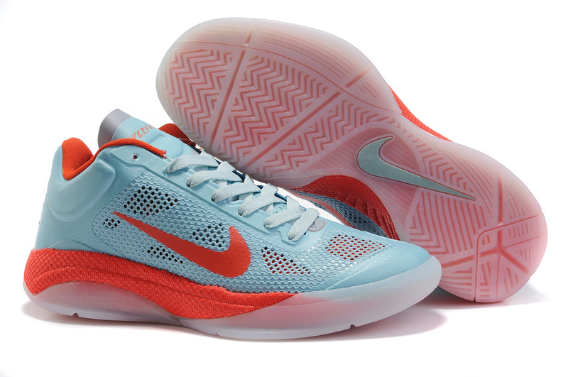 New Nike Zoom Hyperfuse 2011 Low 5 Original Light Blue Red