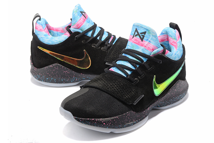New Nike Zoom PG 1 Black Rainbow Shoes