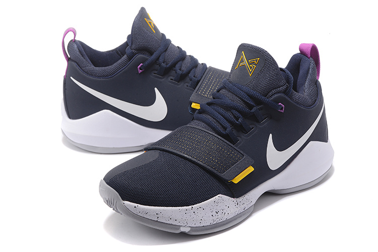 New Nike Zoom PG 1 Dark Blue White Shoes