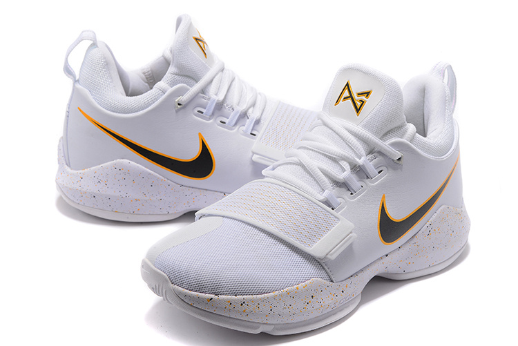 New Nike Zoom PG 1 White Basketball Shoes
