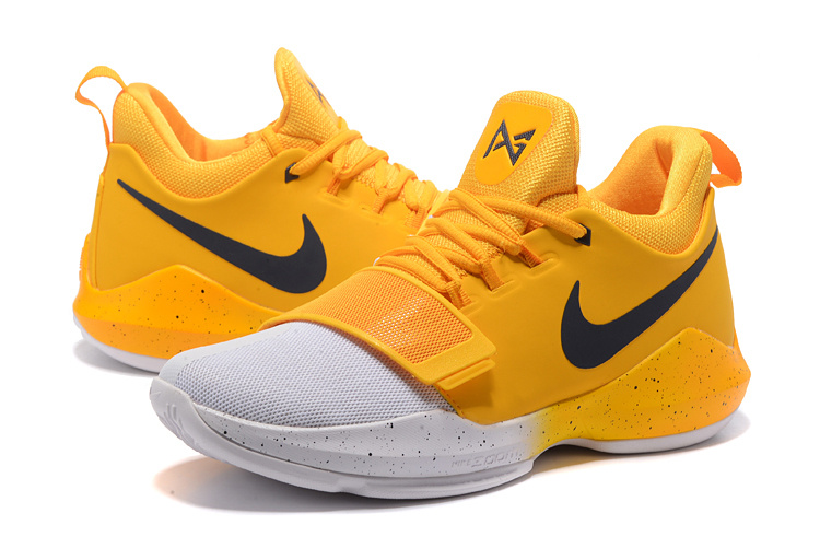 New Nike Zoom PG 1 Yellow White Shoes