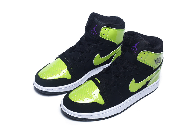 Nike Air Jordan 1 Black Fluorscent Green Sneaker