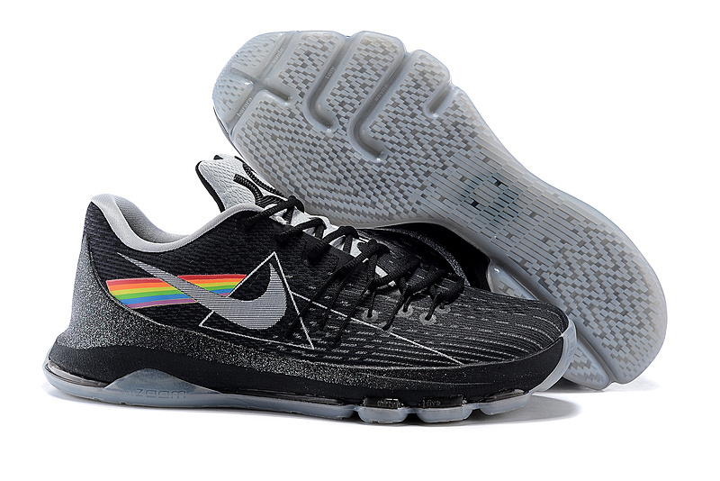 Newly Shoes KD 8 EP Black Metallic Silver Wolf Grey Shoes On Sale