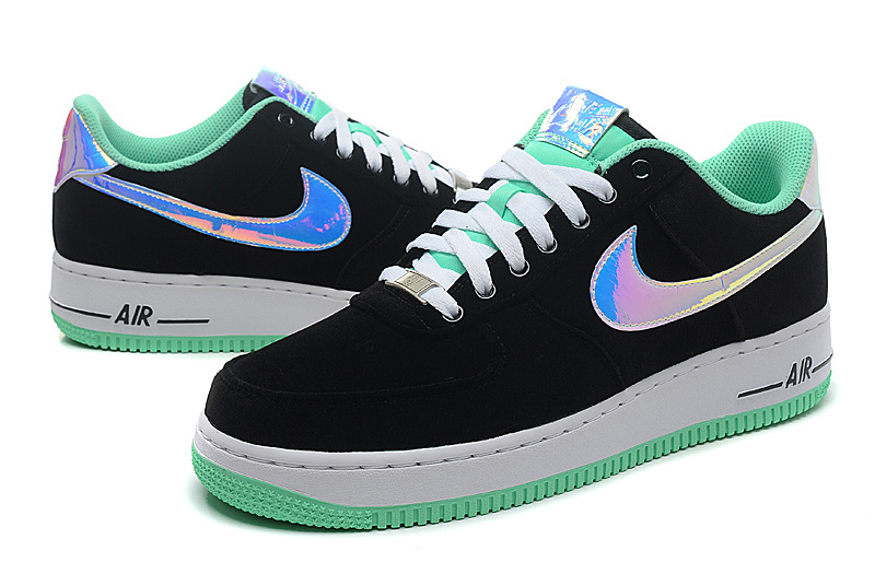 Nike Air Force 1 Low Black Sliver Light Green Sneaker