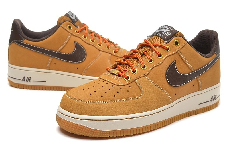 Nike Air Force 1 Low Folk Yellow Black Swoosh Sneaker