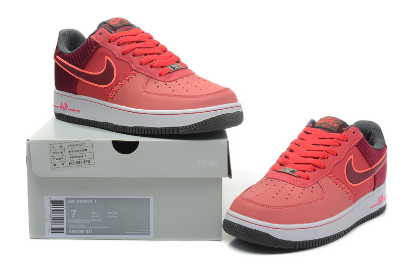 Nike Air Force 1 Low Light Red Sneaker
