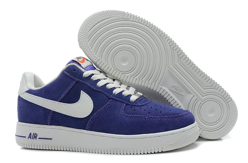 Nike Air Force 1 Low Super soft suede Blazer Blue White Sneaker