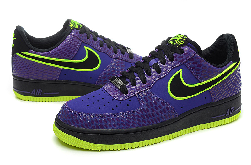 Nike Air Force Low 2014 Blue Snake Scale Sneaker