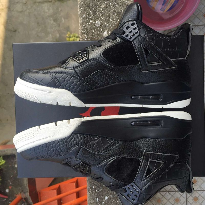 Nike Air Jordan 4 Black White Basketabll Shoes