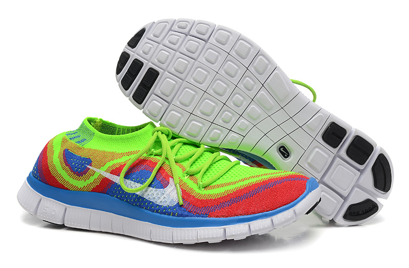 Nike Flyknit Lunar Colorful Running Sneaker