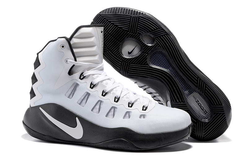 Nike Hyperdunk 2016 High White Black Olympic Basketball Shoes