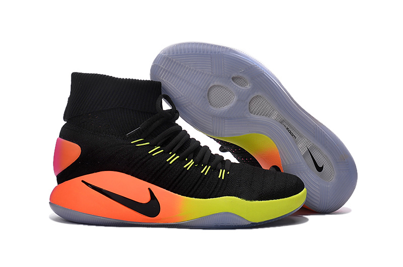 Nike Hyperdunk Flyknit 2016 High Black Seven Colors Basketball Shoes