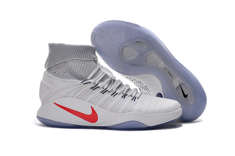 Nike Hyperdunk Flyknit 2016 High White Basketabll Shoes