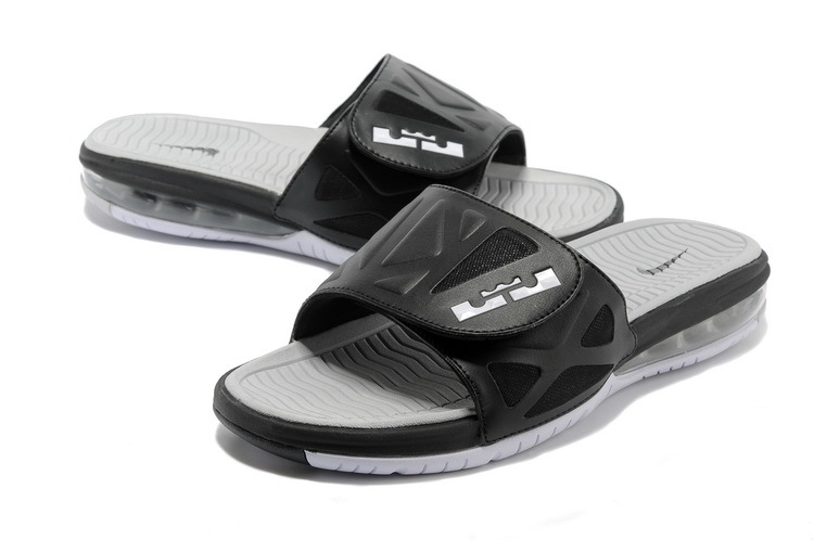 Nike Lebron Cushion Hydro Black Grey Slippers