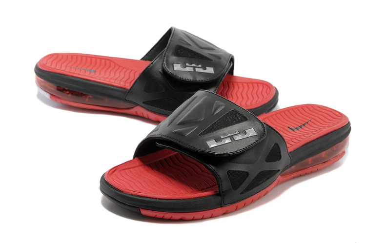 Nike Lebron Hydro Black Red Slippers