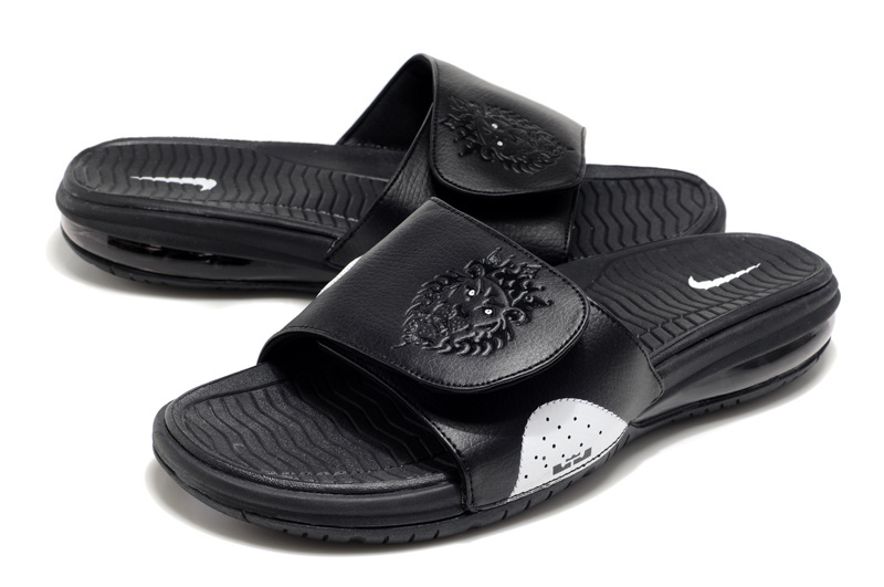 Nike Lebron Hydro Black White Sandals